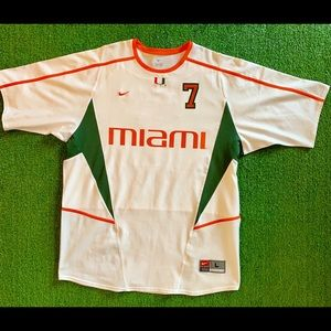 NWOT! 2002 Miami Hurricanes Soccer Jersey. Large.